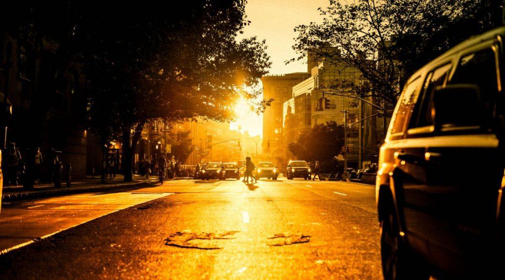 soleil sur la route